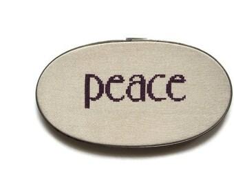 Peace cross stitch pattern