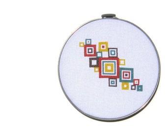 Mod squares modern cross stitch pattern