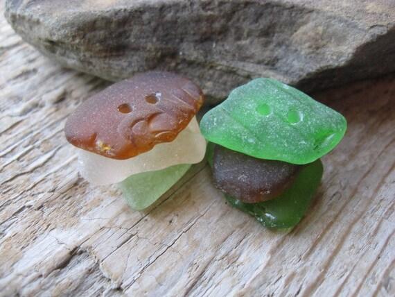 Beach Glass BUTTONS Sea glass Buttons