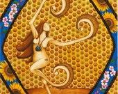 The Bee Priestess, original watercolor print