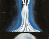 Luna, original watercolor print