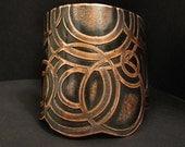 Etched Copper Cuff- made in Austin, Tx