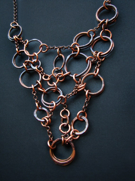 Copper Necklace - Lure and Tackle Design II - handmade copper jewelry