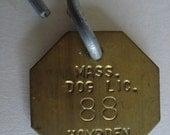 1963 Dog Tag Hampden MA 88