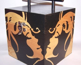Large Box purse - modern face - OOAK