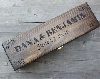 Custom Wedding Wine Box, Wedding ceremony wine box, Wine box ceremony, Rustic wine box, First Fight Box, Memory Box, Anniversary gift