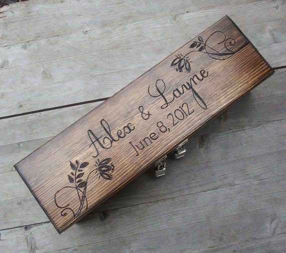 Custom Wine Box, Memory Box, Time Capsule for Your Wedding Day, Anniversary or any other Special Occasion