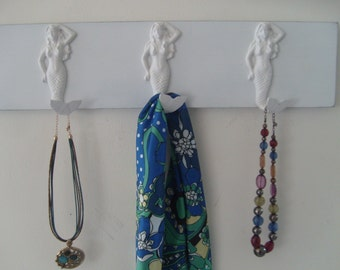 mermaids towel hooks beach home decor coastal living nautical bathroom sea themed renovation redecorating Outer Banks Beach House Dreams OBX