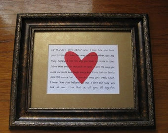 Personalized Valentines print, 5 x 7 card, for him or her, purchase by January 15