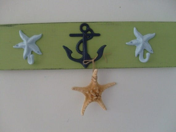 anchor starfish blue and green nautical nursery decor spring redecorating wall decor poolhouse outdoor shower Beach House Dreams OBX