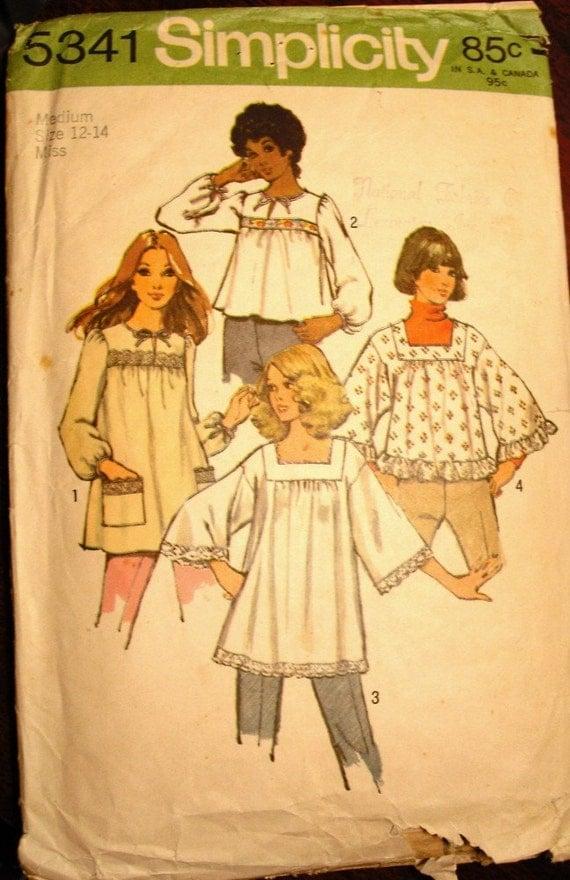 White Peasant Blouse Pattern 57