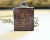 Love Scrabble Tile Pendant