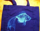 BLUE FISH TOTE bag - last one in stock