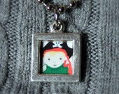 your child portrait in mini necklace- add on