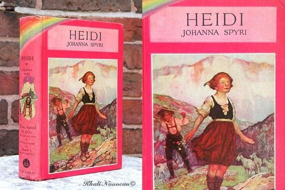 LOOK ON SALE, Heidi 1925, Johanna Spyri, Vintage Childrens book