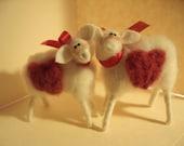 I Love Ewe Ewes Felted Wool Ornaments/Figurines