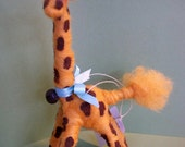 Giraffe Felted Wool Standing Figurine/Ornament