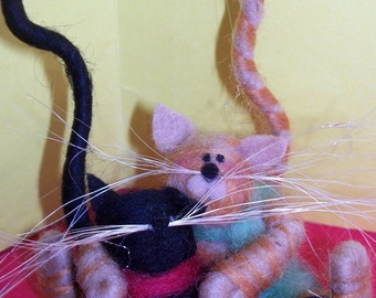 Purrfect Snowbuddies Felted Wool Ornament