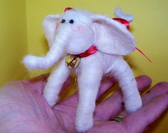 Elephant Wool Wrapped and Felted Ornament