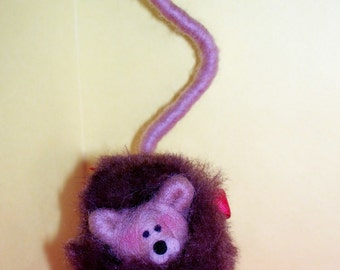 Lion Wool Wrapped and Felted Ornament