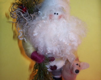 Wool Forest Santa - New for 2010