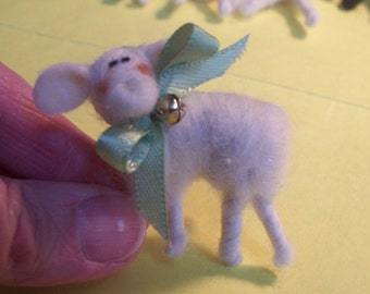 Lamb Pin Felted Wool