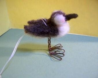 Sanderling Felted Wool Miniature Bird