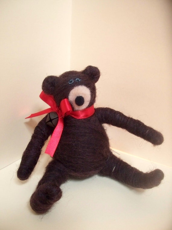 Wool Wrapped Bear Figurine/Ornament