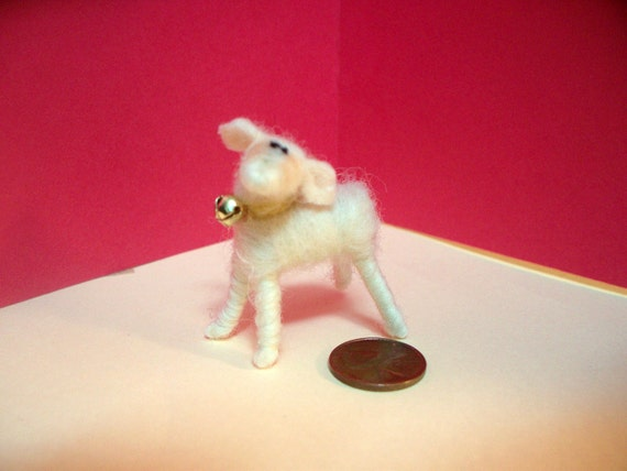 Miniature Lamb Wool Wrapped/Needle Felted