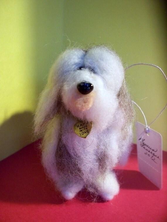 Bearded Collie Felted Dog Ornament/Figurine