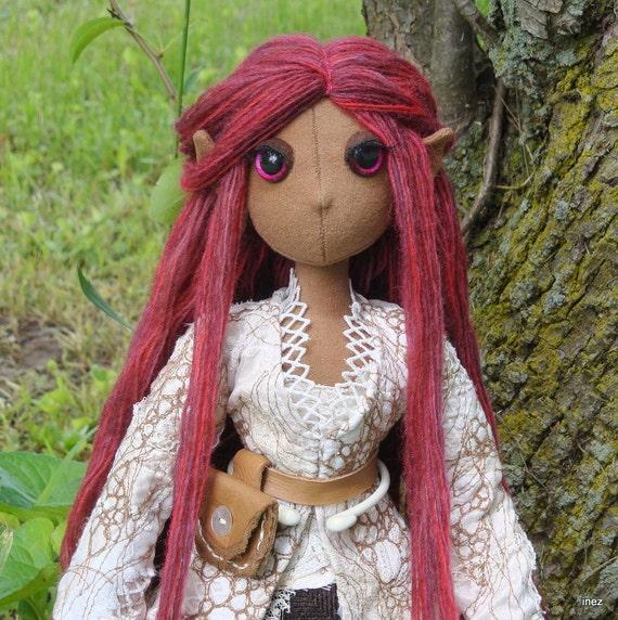 SALE - OOAK Cloth Art Doll - Rhianon