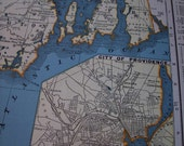 1939 State Map Rhode Island - Vintage Antique Map Great for Framing