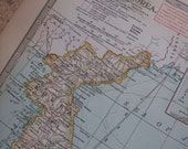 1911 Map Japan and Korea - Vintage Antique Map Great for Framing 100 Years Old