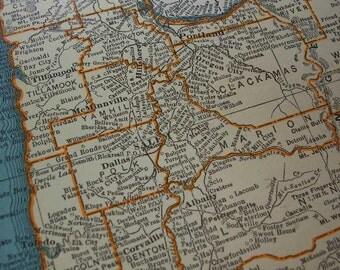 1937 Oregon State Map - Vintage Antique Map Great for Framing