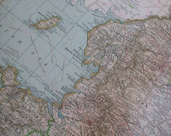 1911 Map Northern Part England and Wales - Vintage Antique Map Great for Framing 100 Years Old