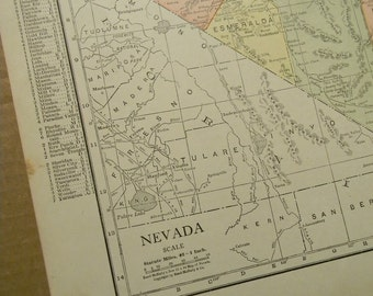 1916 State Map Nevada - Vintage Antique Map Great for Framing