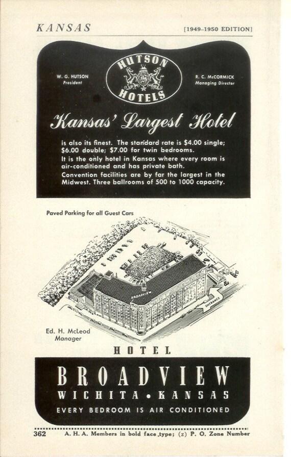 1950s advertisement broadview wichita kansas vintage