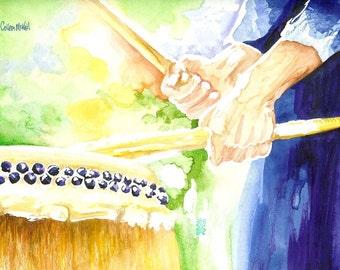 Taiko Drum Painting