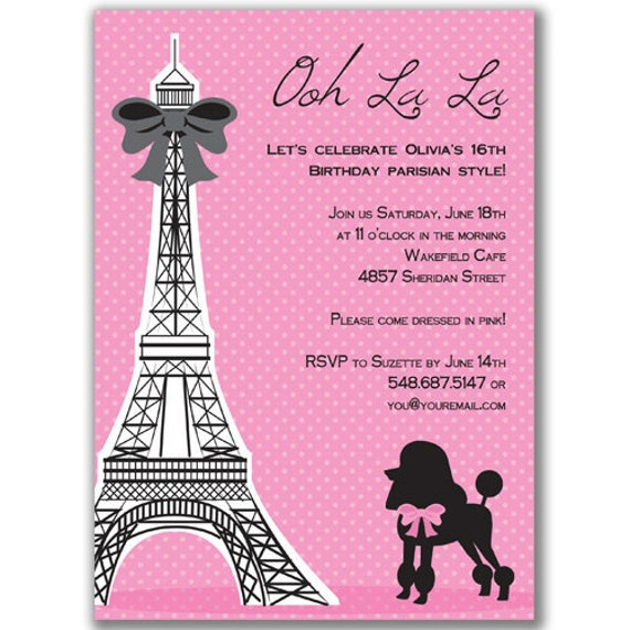 Eiffel Tower Bridal Shower Invitations is perfect invitations layout
