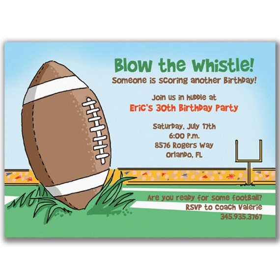 Items similar to Football Invitations for Boys Birthday Party or Super Bowl Party on Etsy