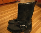 Tall Black engineer boots Biker 8.5 mens or 9.5 womens motorcycle Harness