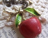 Apple Pie Antiqued Brass Necklace
