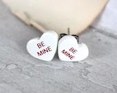 SHOP CLOSING SALE Be Mine Sweetheart Post Earrings