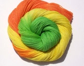 Handpainted Superwash Sock Yarn-Citrus Punch