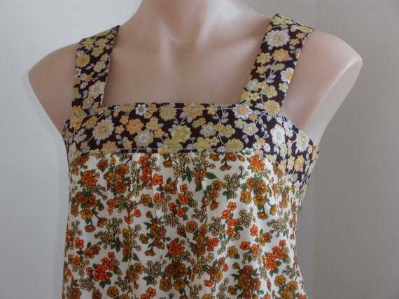 dreaming of spring...vintage fabric  pinafore dress