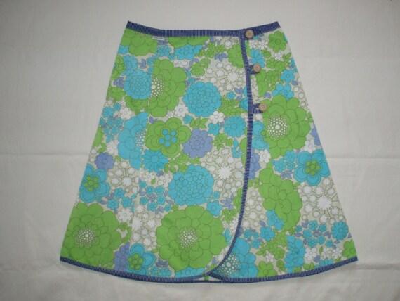 vintage fabric a-line skirt