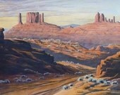 SALE - Desert Canyon Landscape - ACEO