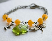 Honey and Olive Bracelet