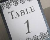 Custom Order-23 Damask Table Numbers