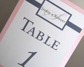 Custom Order-22 Buckle Table Numbers